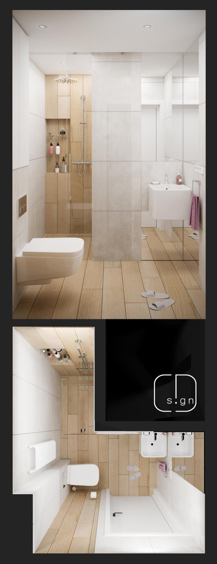 projekt łazienki no 2
