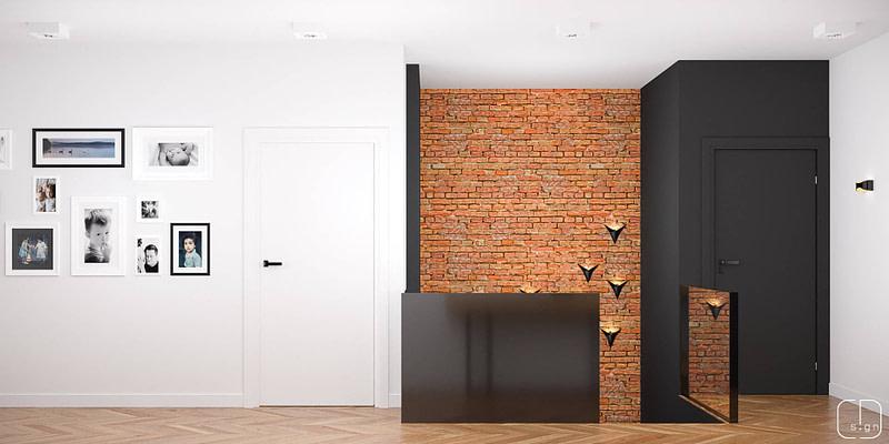 projekt wnętrz domu - klatka schodowa