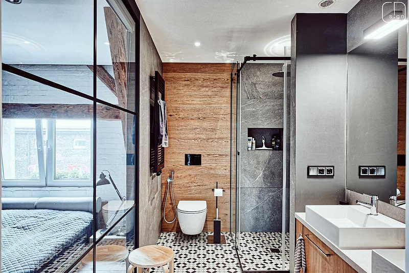 projekt wnętrz mieszkania na poddaszu