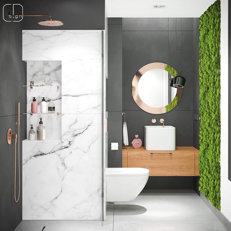 projekt wnętrz łazienki goscinnej