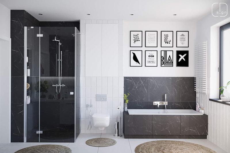 projekt łazienki no1a
