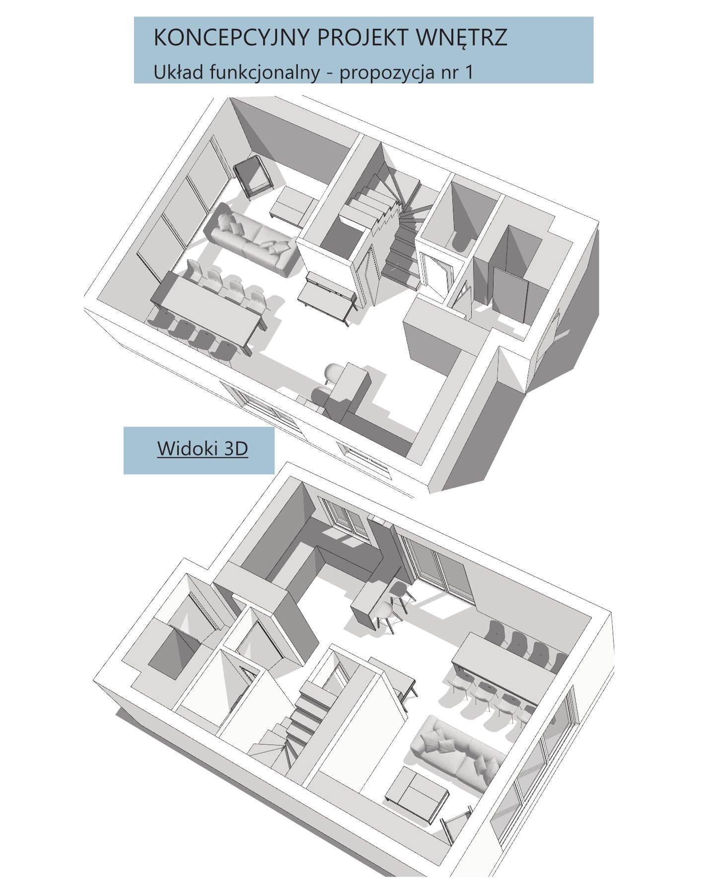 Widoki 3D - do zaproponowanego układu funkcjonalnego