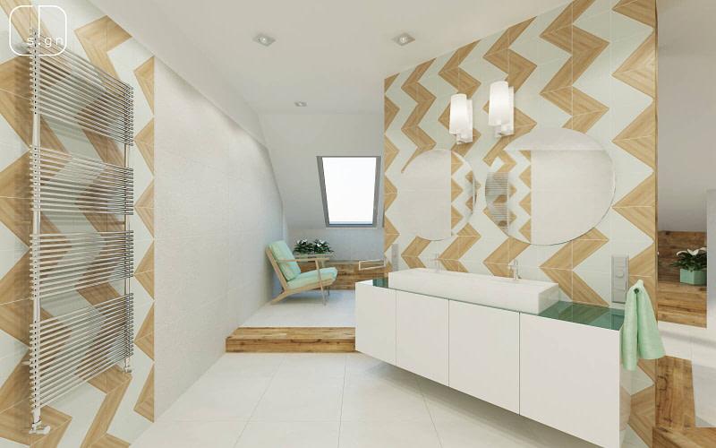 projekt wnętrz łazienki - salonu kąpielowego
