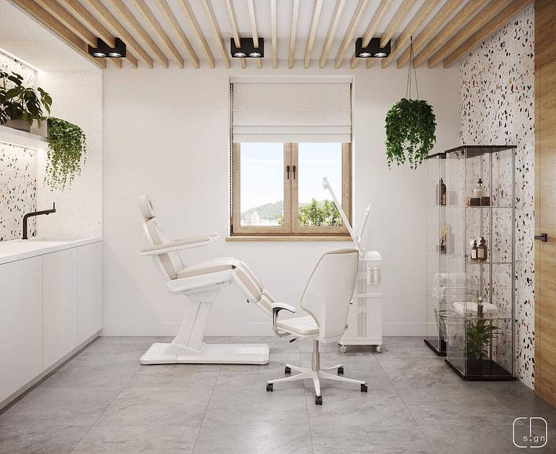 projekt wnętrz gabinetu kosmetycznego