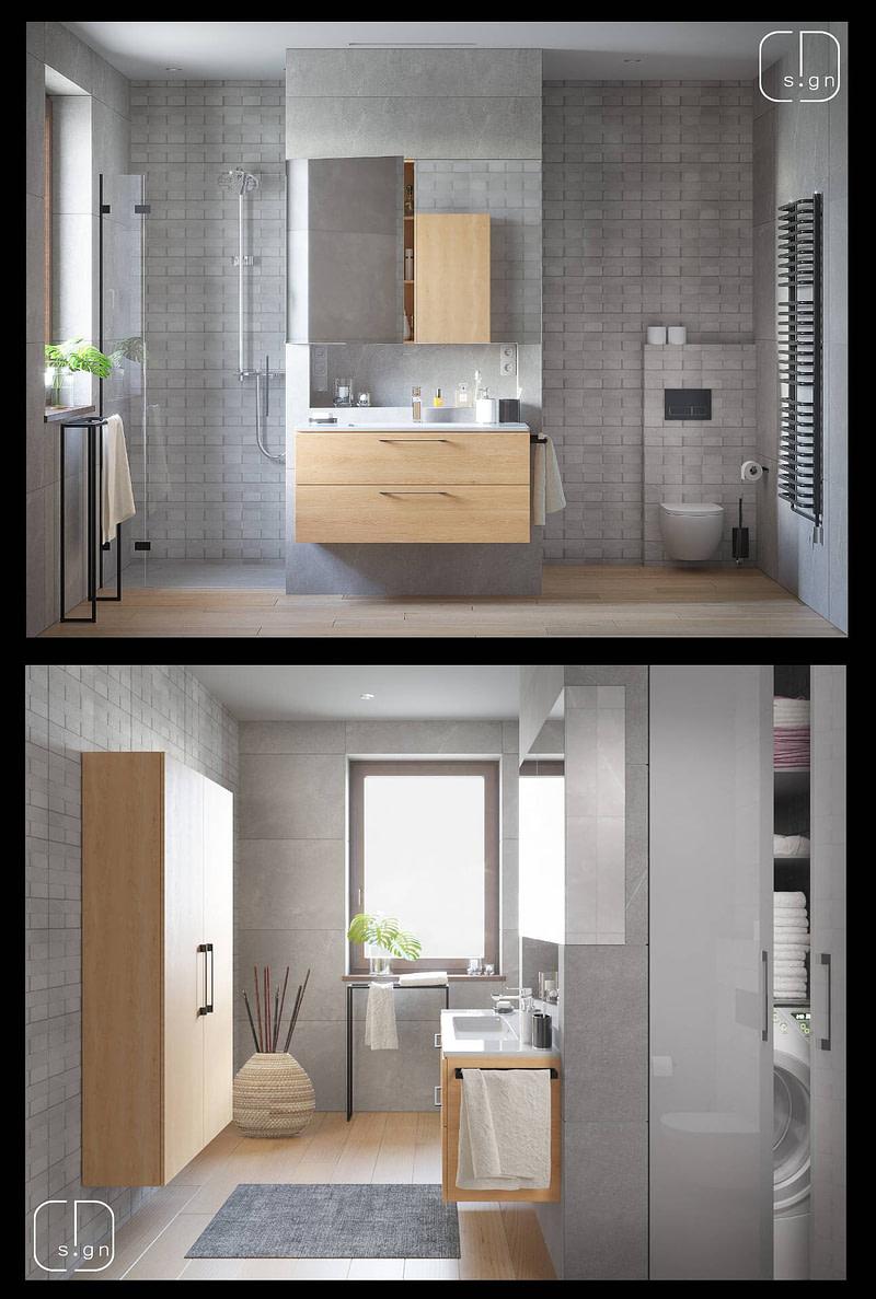 projekt łazienki no 3